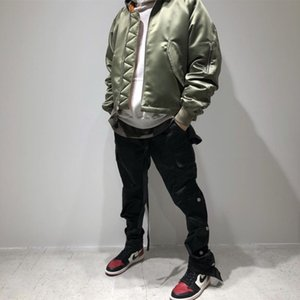 Грузовой Sweatpant Hip Hop Кармана Брюки Streetwear штаны мужчины Урожай Комбинезон для брюк