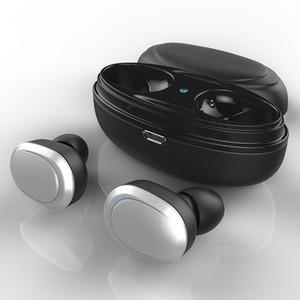 T12 TWS Earbuds verdadeira sem fio Bluetooth Headphones Stereo Music Headsets Invisible BT 5.0 fone de ouvido com microfone de carga Caixa de transporte gratuito