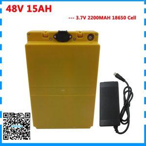 750W 15Ah 48V EBike Pil 48Volt li-ion pil Dahili 20A BMS 13S Lityum Batarya 48V 15Ah ile Kılıf 2A Şarj