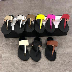 Mulheres de couro genuíno designer de sandálias de luxo chinelos De Metal chinelo de Verão Tamanho grande 34-42 com caixa de 9 cores