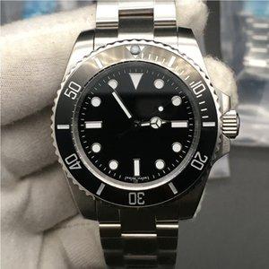3 ألوان الساعات الرجال الياقوت الأسود الأخضر السيراميك الحافة الفولاذ الصلب 40 ملليمتر 116610 114060 التلقائي الميكانيكية ساعة اليد هدية
