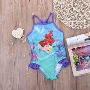 Glane Mermaid Baby Girl Crianças Maiô Swimwear Bikini Tankini Costume swimsuit