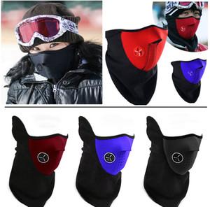 Новая неопрена шеи Теплый Половина маска Winter Ski Mask Маска Veil для велотуристов мотоциклов Лыжная сноуборде велосипедов Face 3 цвета HH9-2625