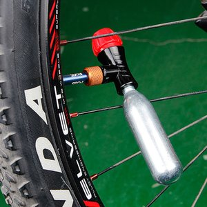Mini Hand Pump Head Bicycle For CO2 Bottle Schrader Presta Valve Fast inflatable Road MTB Mountain Bike Air Inflator Accessories