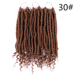 Spring Twist culry kinky Crochet Braid Hair Extensions 12 inch,24 strands pack Synthetic ombre braiding hair 60g pc twist Brown,Black