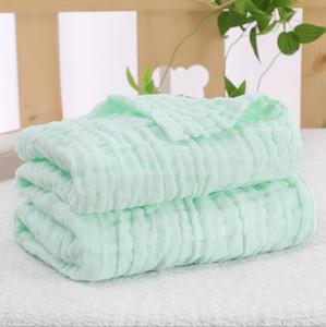 100% Baumwolle Newborn Muslin swaddles 6 Schichten Volltonfarben Decken Nursery Bedding Newborn Swadding Badetücher 105x105cm Kinderdecken