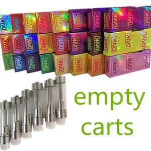Dank vapes cartouches vides Hologram Emballage Vape Pen 0.8ml 1,0ml Press Tip M6T huile épaisse de 1,8 mm en céramique Coil atomiseurs