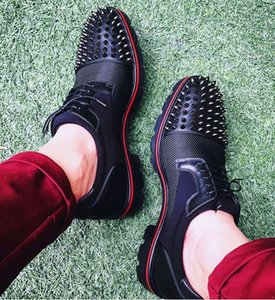 2020 Derby Luis Mika Sky Gentleman Red Bottom Oxford Marche Party Hommes Mariage Mocassins Luxe Zapatos Hombre 38-46