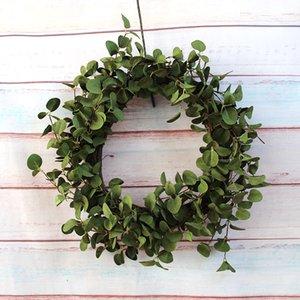 Artificial hojas verdes corona de Navidad Decoración Colecciones Country Living Pizarrones corazones decoraciones colgantes otoño