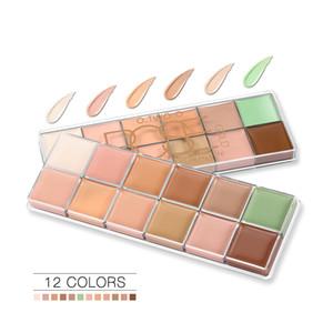 12-color Concealer Palette long Lasting concealer Dark circle Removing Brighten Natural modifiy Face Hot sale Free shipping