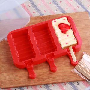 Los niños de grado alimenticio moldean el hielo de forma ovalada molde de helado de silicona conejo pata de conejo pata paletas moldes bandeja de hielo cubo congelado Lolly molde DH1341