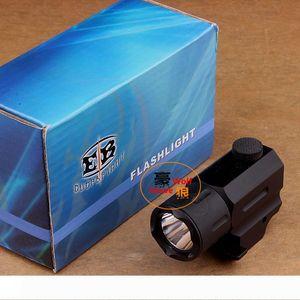 Hunting Cree Led Flashlight Torch Waterproof & Shock Resistant for pistol gun QD Weaver Picatinny mount rail free shipping