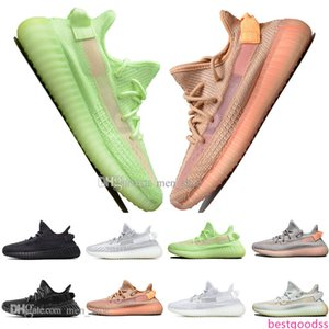 With Luxury Kanye West Clay V2 Static Reflective GID Glow In The Dark Mens Running Shoes True Form Women Men Sports Designer Sneakers