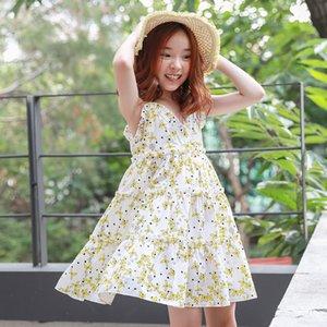 Neue Sommer Kinderkleidung Mädchen koreanische Version der Blumenkinder Strand Strandkleid Rock Kleid 1078