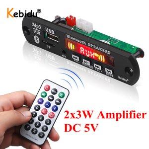 Radio FM MP3 barato jugador Kebidu 2x3W Amplificador Bluetooth Reproductor MP3 Decoder Junta para el altavoz del coche Módulo de soporte de grabación USB TF audio AUX