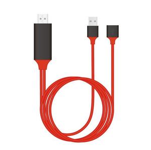 العالمي كابل HDMI PLUG AND PLAY HDMI HDTV محول 1080P الهاتف إلى التلفزيون USB 2.0 TO نوع C مايكرو 5PIN 1M