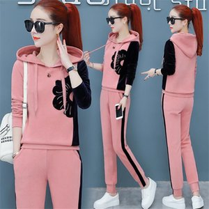women tracksuits 2 piece set plus size large pant suits and top outfits co-ord set autumn winter sportswear Fall clothes T200706