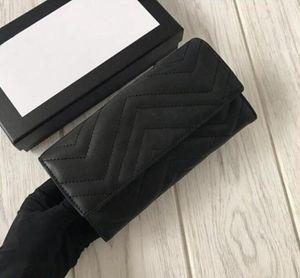 diseño humanoide corrugado bolso de cuero 19 cm de largo Marmont cartera de tarjetas multi cartera ranura señora flip monedero ambas cartas tarjeta de la moneda Bolsas 443436