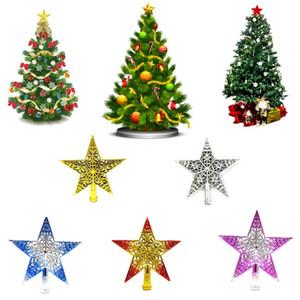 Árbol de navidad Top Star Decoration Árbol de Navidad Hollowed Sparkle Hang Star Shape Árbol de Navidad Colgante Decoraciones navideñas