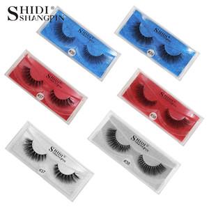 Fashion 3d mink hair false eyelashes 1 pair pack natural three-dimensional multilayer eyelashes hot sale