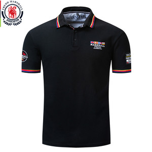 Fredd Marshall 2019 New Flag Embroidery Polo Shirt Men 100% Cotton Short Sleeve Business Casual Solid Color Brand Polo Shirt 039 T200528