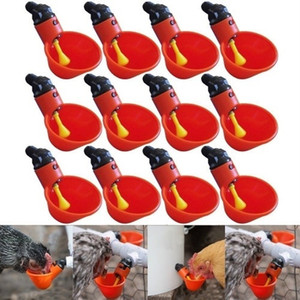 12pcs Feed Automatic Bird Coop Poultry Chicken Fowl Drinker Water Drinking Cup For Chicken Feeder Fowl Cook Bowl Dropshipping