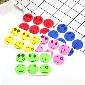 Visage souriant Emoji Anti Mosquito Autocollant Patch Bug répulsives Protect Gravida Fit maternité Bébé Enfant Adulte d'extérieur Accueil parti faveur LJJA4123