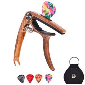 Guitarra Capo para 612 Cordas Synthesizer Teclados acústico e elétrico guitarras baixo Ukulele Bandolim Banjo com picaretas e Escolhas Titular
