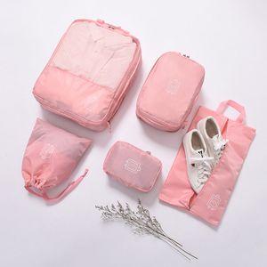 5pcs Clothes Sock Bra Shoes Storage Bag Set Cosmetics Toiletries Electronics Accessories Travel Pouch