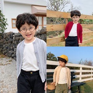 Boys' knitting cardigan 2020 ji nv baby foreign flavor candy-colored children autumn Candy jacket jacket jacket