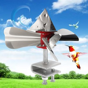 aço inoxidável Wind Power Scarer Pássaro 360 Degree reflexivos Birds Repelentes Decoy Outdoor Orchard Garden Pest Control Y200106