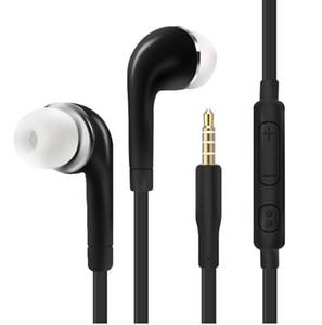 Cuffie 3.5mm jack auricolari stereo via cavo auricolare con microfono per auriculares Iphone Sony Xiaomi Samsung S7 S8 S9 (Retail)