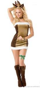 Sin mangas ciervos Cosplay Ropa para mujeres Ropa para mujer de Navidad Costumes Tipo atractivo flacas