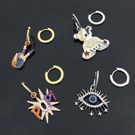 European and American Creative Earrings April apmy female long color Bear Dinosaur lucky eye Earrings Jewelry Gift