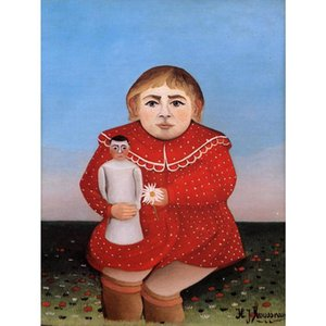 High quality Henri Rousseau Oil painting Child with Doll Hand painted animal art for living room wall decor