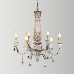 lampadario in legno rustico illuminazione lampadario cristallo vintage lustre cristal led avize art deco lampadari a soffitto nordic home decor lampada