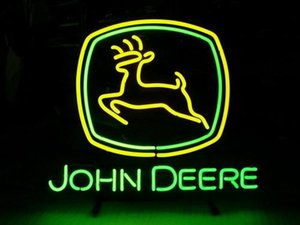 Neon Sign tubo John Deere reale di vetro lavorato a mano birra della barra della squadra nel The Wall Game Room