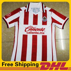 Free DHL Shipping 2020 2021 Chivas home soccer jerseys men Short Sleeve jersey Football T-Shirt Jersey can be mixed batch Men's T-Shirts