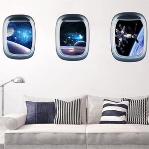 Universo Star Wall Paper Impermeabile 3D Wall Sticker Camera dei bambini Decorazione Spazio Galaxy PlanetsVinyl Art Murale Decal Pegatinas