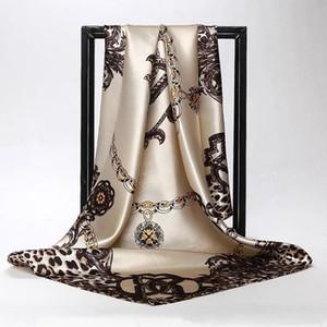 Lujo beneficio cero primavera Patrón Mujeres bufanda Carta diseñador de moda de las bufandas de calidad superior de poliéster largas Chales