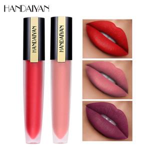 Handaiyan Gloss Labial Líquido Crema impermeable mate de larga duración terciopelo Copa antiadherente de maquillaje de labios Base Gloss