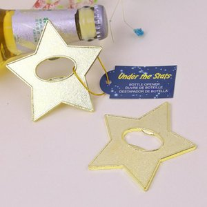 Under the Stars Bottle Opener Gold Metal Pentagram Beer Openers Wedding Birthday Baby Shower Favors and Gifts