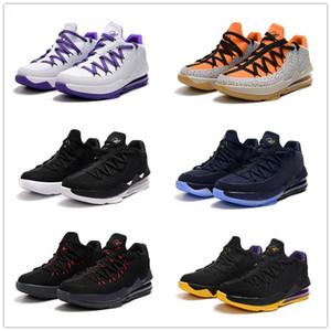 Lebron 17 Low Safari Kumquat Noir Violet Blanc Noir Hommes Chaussures de basket-ball Entraîneur de bonne qualité faible 17s Hommes Sports Athlétiques avec boîte