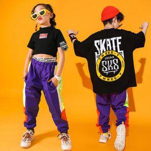 infantis Modern Jazz Dança Trajes Hip Hop Stage Mounts Drums crianças roupas Jazz Ballroom dança Desempenho Roupas