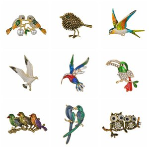 Brooches Classic Handmade Cute Birds Parrot Brooches For Women And Men Enamel Pin Animal Bird Brooch Pin Christmas Jewelry Gifts