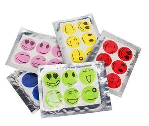 1000 set (1 set = 6 pcs) Anti Mosquito Patch autocollant Citronnelle tueur de moustique anti-moustiques sourire visage Repellent à l'état sauvage