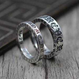 Стерлингового серебра 925 пробы Личность Навсегда Пара Относится Кольцо Тайский Серебряный Ретро Уникальное Кольцо K5585