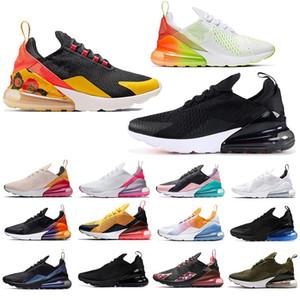 Nike Air Max 270 Tamanho Para Eur 47 48 49 Running Shoes Floral Branco Triplo Preto Hot perfurador Mens Formadores Mulheres Designer Luxury Sport Sneaker nos 12 13 14