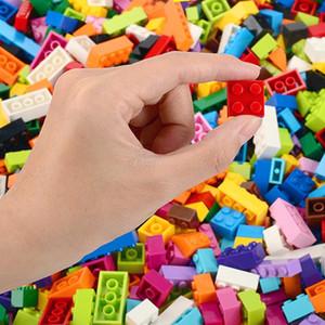1000 قطعة بناء كتل الطوب الاطفال الإبداعية لعب أرقام بنات بنات أطفال هدية عيد ميلاد Legoes Duploe متوافق