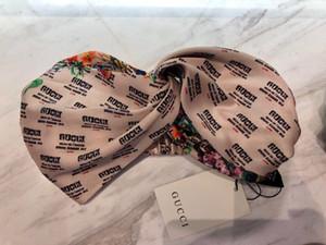cintas para el pelo de la marca caliente de seda elástico Heabands para mujeres de la alta calidad de lujo de la banda para la cabeza floral headwraps Pañuelos gota regalo C422 buque